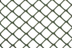 Nature Vierkant Schermgaas Groen 5x5mm - 1x25m