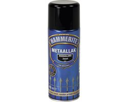 Hammerite Metaallak Spray Hoogglans Zwart S060 - 400 ml