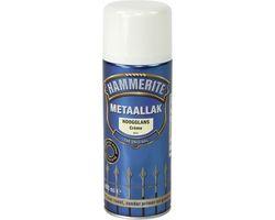 Hammerite Metaallak Spray Hoogglans Crème S012 - 400 ml