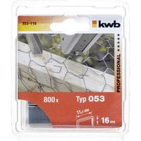 KWB Nieten 53C 16 mm 800 Stuks