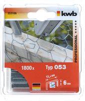 KWB Nieten 53C 6 mm 1800 Stuks