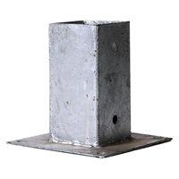 Paalhouder Op Plaat Thermisch Verzinkt 9 x 9 cm