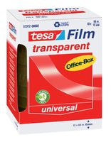 Tesa Film Plakband Transparant 15 mm 66 Meter - 10 Stuks