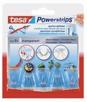 Tesa Powerstrips Decohaken Transparant 5 Stuks