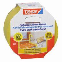 Tesa Afplaktape Extra Sterk Geel 50 mm 33 Meter