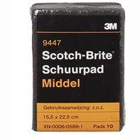 3M Schuurpad Scotch Brite Middel 10 Stuks