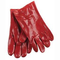 Elma Handschoen Kort PVC Rood XL 1 Paar