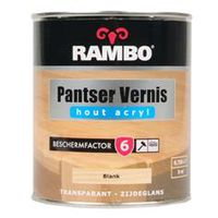 Rambo Pantser Vernis Acryl Zijdeglans Blank 701 - 750 ml
