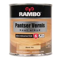 Rambo Pantser Vernis Alkyd Zijdeglans Blank 701 - 750 ml