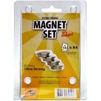 MagPaint Magneet Staal Ultra Sterk Ø 23 mm 4 Stuks