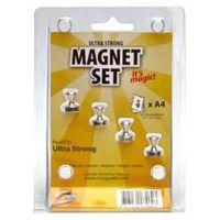 MagPaint Magneet Punaise Metaal Ultra Sterk 4 Stuks