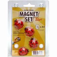 MagPaint Magneet Lieveheersbeestje 4 Stuks