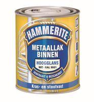 Hammerite Metaallak Hoogglans Crème Wit RAL 9001 - 500 ml