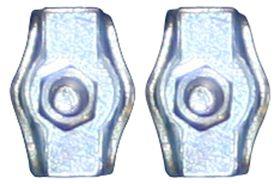 Qlinq Staaldraadklem Plat Verzinkt 3 mm - 2 Stuks