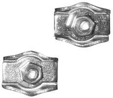 Staaldraadklem simplex / 04 mm / verzinkt