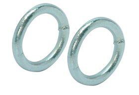 Qlinq Gelaste Ring Gegalvaniseerd 50 x 8 mm - 2 Stuks