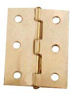 Smalscharnier / 50x39 mm / vaste messing pen / staal vermessingd