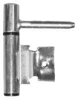 Inboorpaumelle / Ø 14 mm / grijze nylon ring / voor houten deuren en metalen metselkozijnen / staal satijn verchroomd
