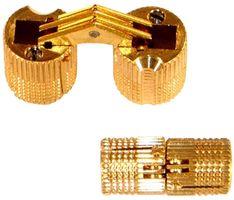 Qlinq Inboorscharnier Blind Messing Ø 12 mm - 2 Stuks
