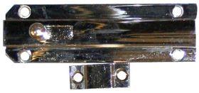Profielschuif / vlak model / 25x080 mm / messing vernikkeld