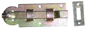 Plaatschuif / 35x100 mm / schootdikte 4 mm / met bocht / staal verzinkt