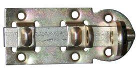 Hangslotrolschuif / 44x100 mm / schootdikte 4 mm / vlak model / staal verzinkt