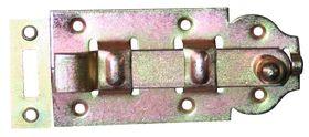 Rolschuif / 44x100 mm / schootdikte 4 mm / met bocht / staal verzinkt