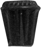 Zwarte rubberen dop voor deurvastzetters met veer DVZ S-serie