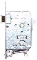 Dag & nachtslot / doornmaat 50mm / incl 2 sleutels / ronde voorplaat wit / inclusief rechthoekige sluitplaat