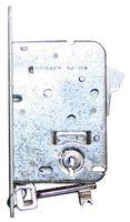 Kastslot / doornmaat 50mm / incl 2 sleutels / ronde voorplaat wit / inclusief rechthoekige sluitplaat