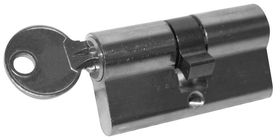 Profielcilinder / 30-30 mm / 5 pins cilinder / verschillend sluitend / incl. stelschroef M5x70mm / 3 sleutels / messing vernikkeld