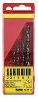 KWB Metaalborenset HSS Zwart 2-8 mm 6-Delig