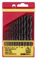 KWB Metaalborenset HSS Zwart 2-8 mm 13-Delig
