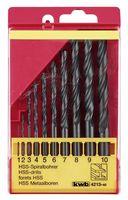 KWB Metaalborenset HSS Zwart 1-10 mm 10-Delig
