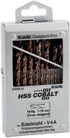 KWB Metaalborenset Cobalt 1-10 mm 19-Delig