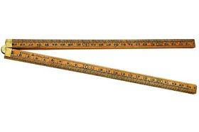 Schuil Duimstok Palmhout 1 Meter