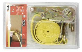 KWB Spanband Met Ratel En 2 Haken 5 Meter