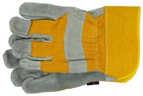 Skandia Werkhandschoen Rundleer Grijs/Geel XXL 1 Paar