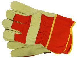 Skandia Werkhandschoen Varkensleer Oranje/Geel XXL 1 Paar