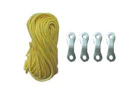 Campking Scheerlijn Nylon Geel 3 mm 3 Meter 4 Stuks