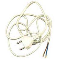 Aansluitsnoer PVC Wit 2 x 0.75 mm2 Met Stekker 1.5 Meter