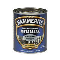 Hammerite Metaallak Hoogglans Zilvergrijs S015 - 750 ml