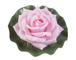 Velda Drijvende Vijverplant Roos Op Blad Roze 17cm