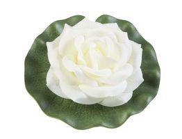 Velda Drijvende Vijverplant Roos Op Blad Wit 13cm