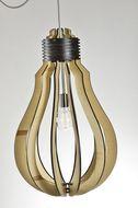 Basiclamp hanglamp Lampadina - hout - 45 cm
