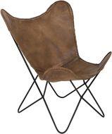 Butterfly Chair - Bruin Leer - Light & Living