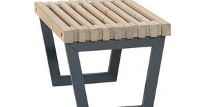 Moderne tafel kruk siesta cm stalen frame met hout