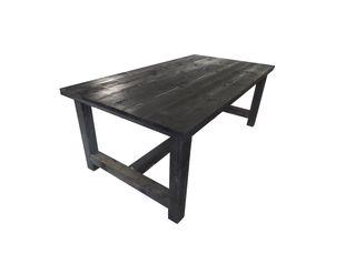 Schoon tafel hout metaal op houten tafel industrieel houten tafel