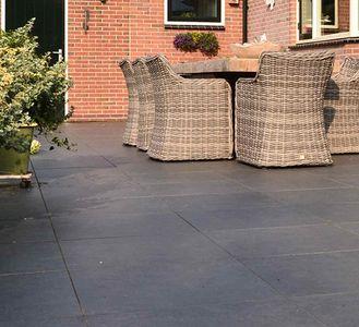 Grote Zwarte Terrastegels.Terrastegels Antraciet Zwart Luxe Tuintegels Beton