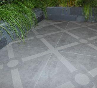 Patroon Tegels Tuin.Print Tegels Buiten Printtegels Terras Beton Keramisch